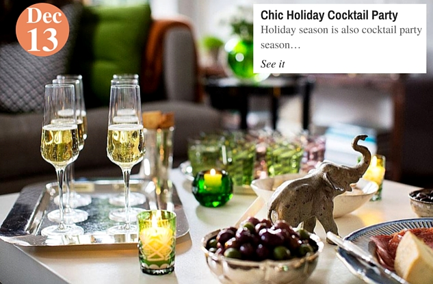 Chic Holiday Cocktail Party