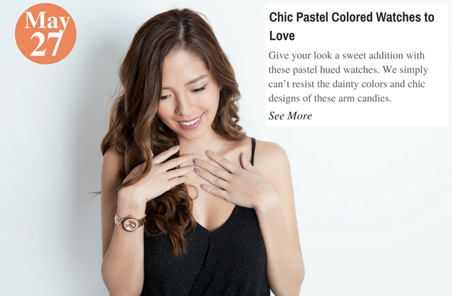 Chic Pastel Colored Watches to Love