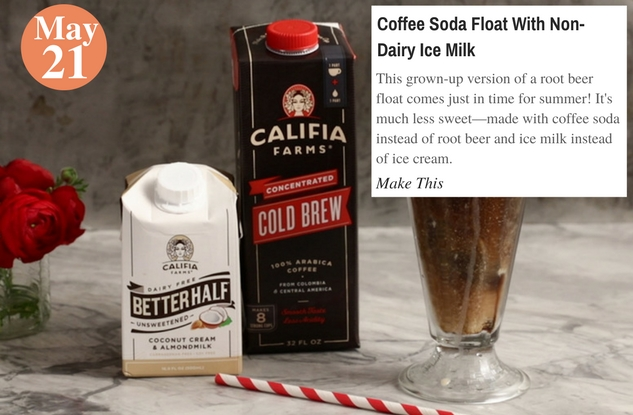 Coffee Soda Float With Non-Dairy Ice Milk