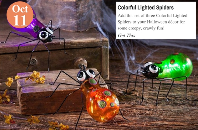 Colorful Lighted Spiders