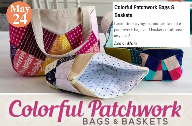 Colorful Patchwork Bags & Baskets