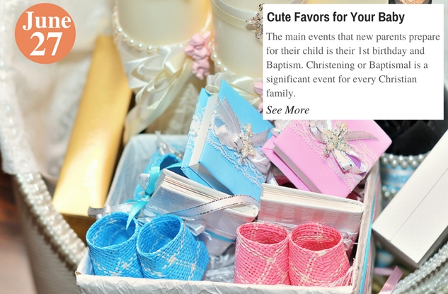 Cute Favors for Your Baby