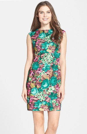 Darling 'Alice' Print Woven Sheath Dress
