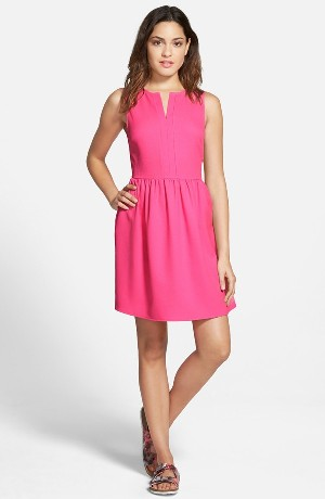 EVERLY 'Rowan' V-Neck Skater Dress