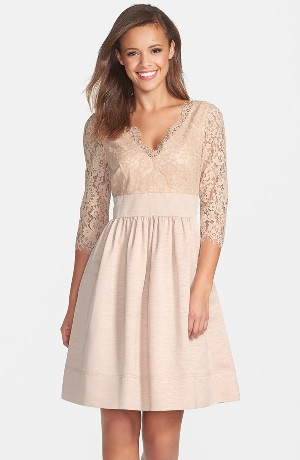 Eliza J Lace & Faille Dress