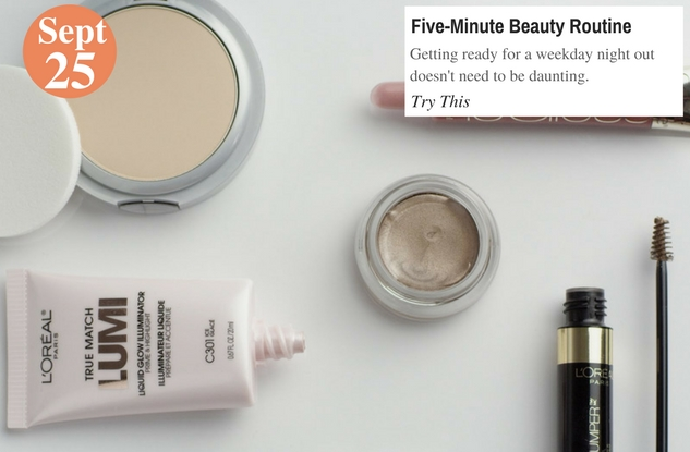 Five-Minute Beauty Routine