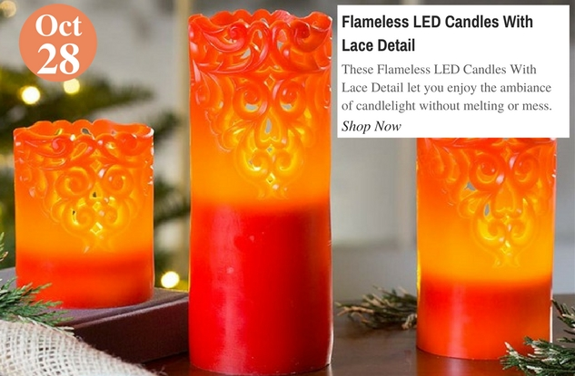 Flameless LED Candles With Lace Detail