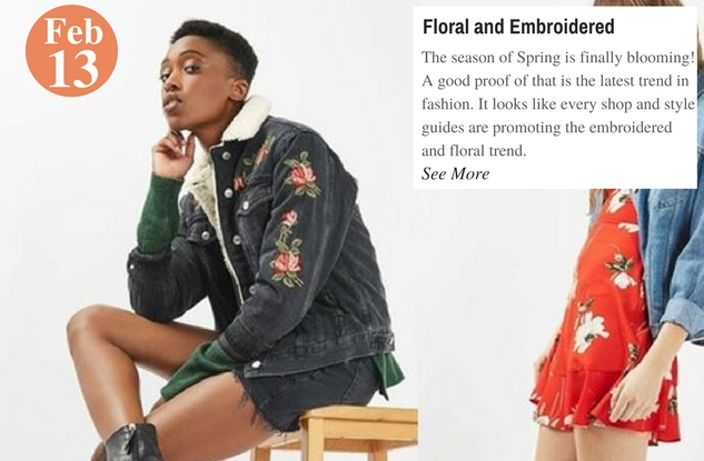Floral and Embroidered