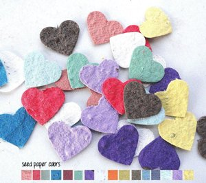 Flower Seed Paper Heart Party Decoration Confetti