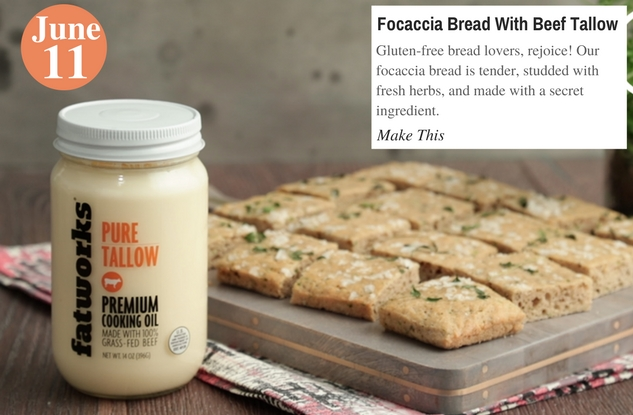 Focaccia Bread With Beef Tallow