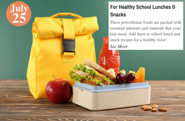 For Healthy School Lunches & Snacks