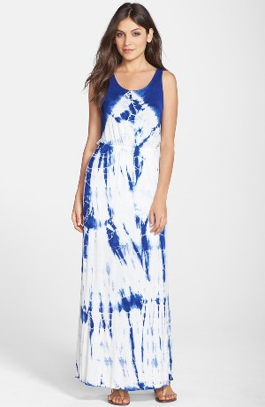 Fraiche by J Tie Dye Strappy Maxi Dress