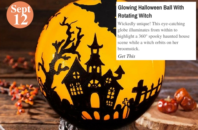 Glowing Halloween Ball With Rotating Witch