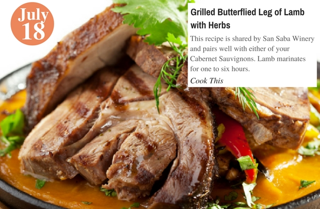 Grilled Butterflied Leg of Lamb with Herbs