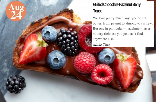 Grilled Chocolate-Hazelnut Berry Toast