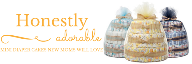 Honestly Adorable Baby Shower Diaper Cakes
