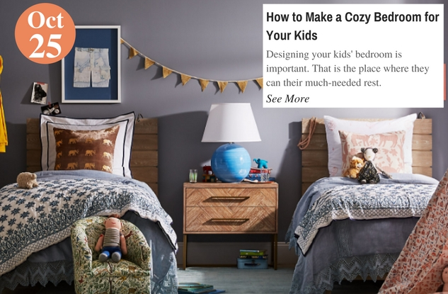 How to Make a Cozy Bedroom for Your Kids