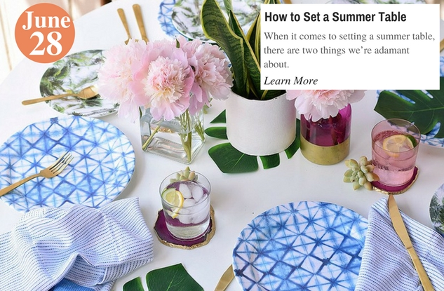 How to Set a Summer Table