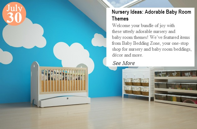 Nursery in the attic with baby crib and other furniture