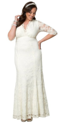 Kiyonna Amour Lace Wedding Gown