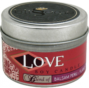 LOVE AROMATHERAPY SOY CANDLE TRAVEL TIN