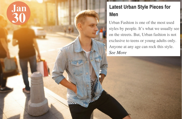 Latest Urban Style Pieces for Men