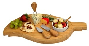 Leaf Cheese Board w Dipping Bowl Set