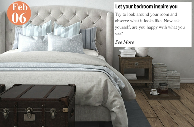 Let your bedroom inspire you