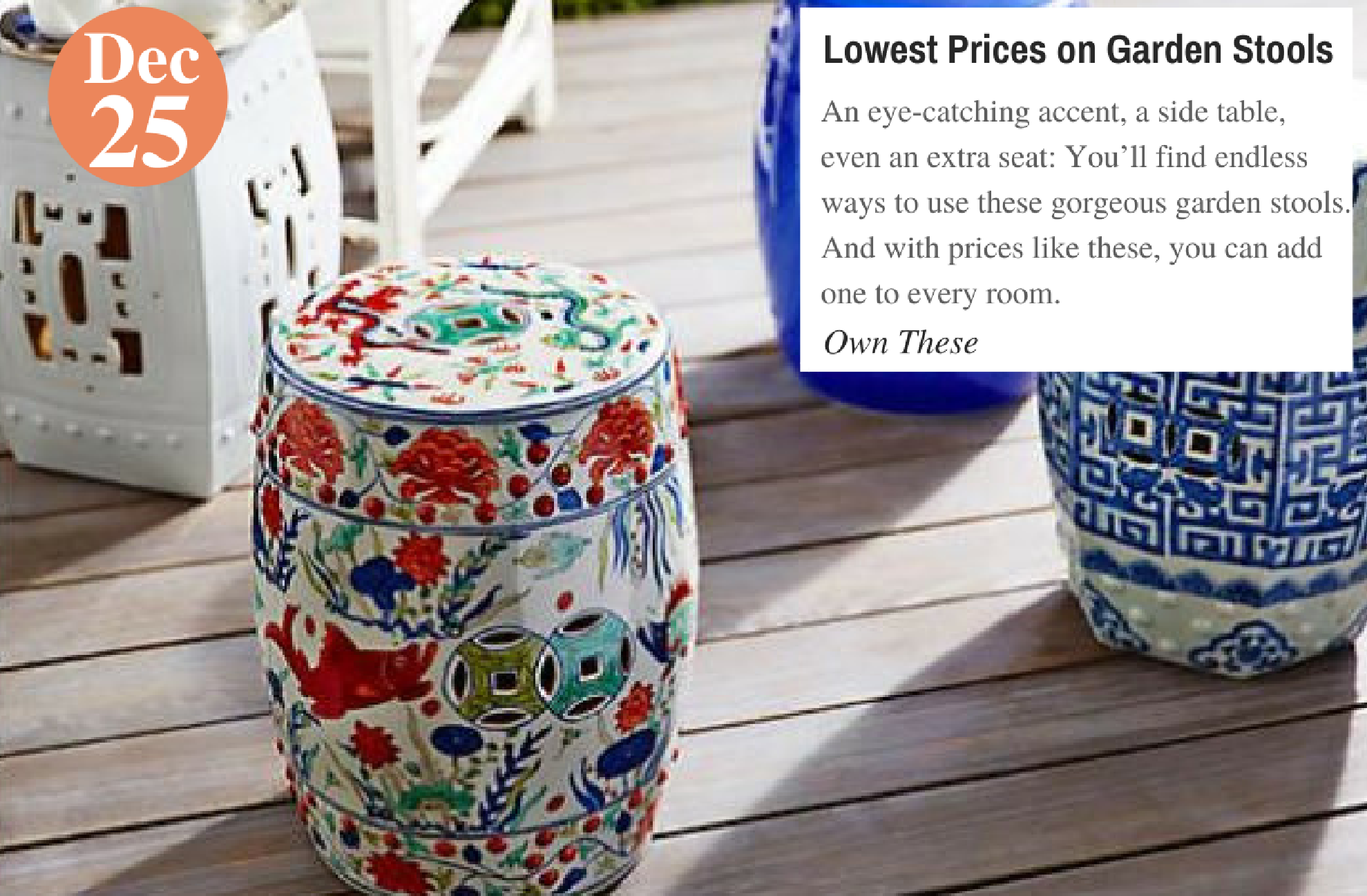 Lowest Prices on Garden Stools