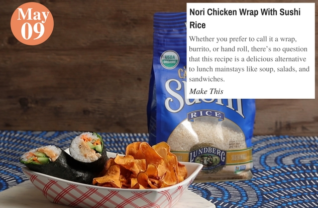 Nori Chicken Wrap With Sushi Rice