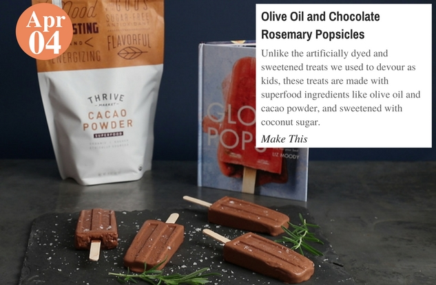 Olive Oil and Chocolate Rosemary Popsicles