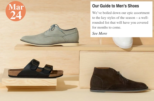 Our Guide to Men's Shoes