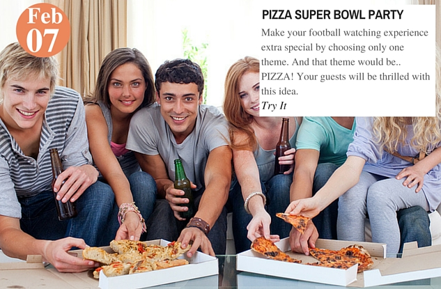 PIZZA SUPER BOWL PARTY