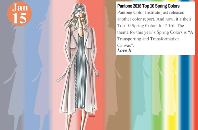 Pantone 2016 Top 10 Spring Colors