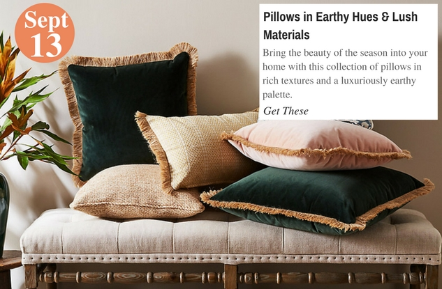 Pillows in Earthy Hues & Lush Materials