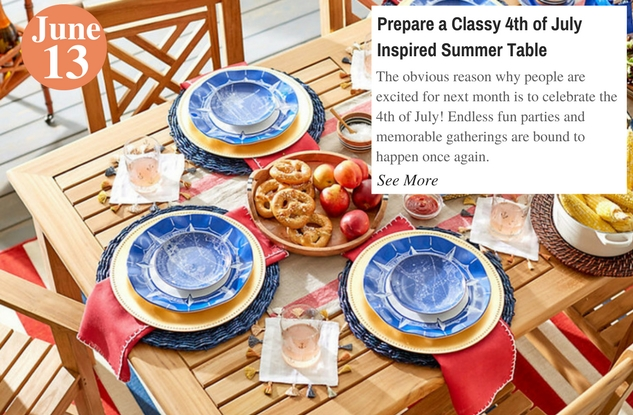 Prepare a Classy 4th of July Inspired Summer Table