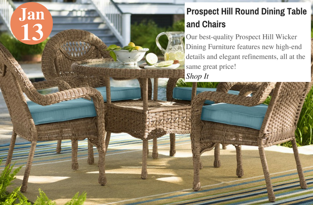 Prospect Hill Round Dining Table and Chairs