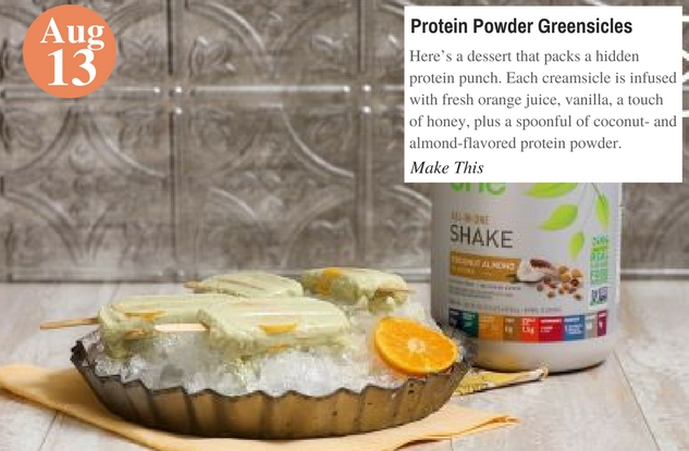 Protein Powder Greensicles