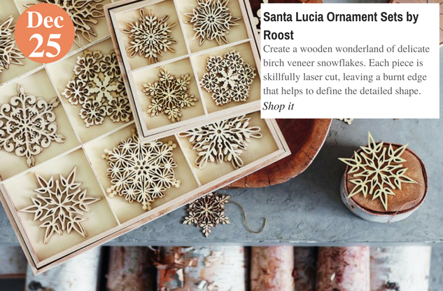 Santa Lucia Ornament Sets by Roost