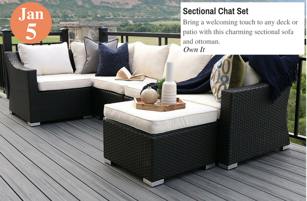 Sectional Chat Set