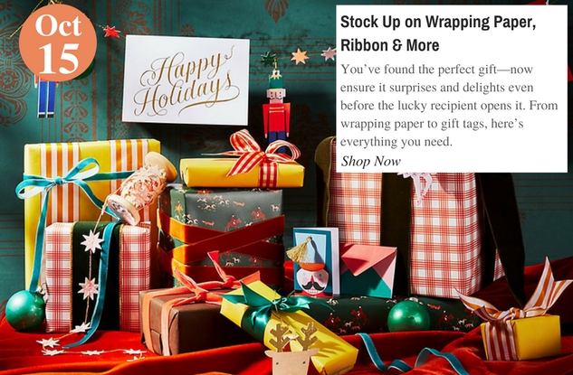 Stock Up on Wrapping Paper, Ribbon & More