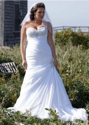 Strapless Sweetheart Trumpet Wedding Dress Style AI13012503