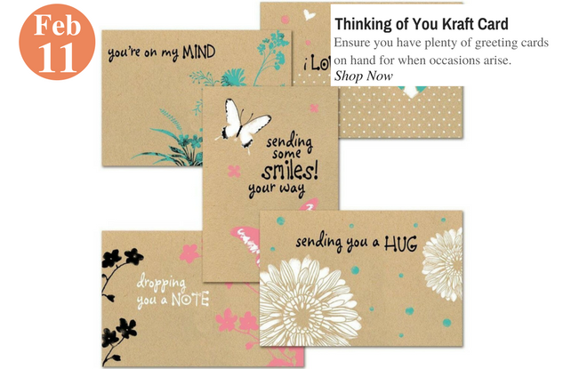 Thinking of You Kraft Card