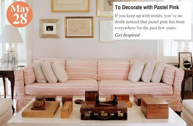 To Decorate with Pastel Pink