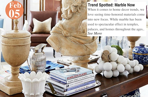 Trend Spotted- Marble Now