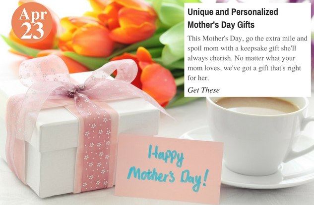 Unique and Personalized Mother's Day Gifts