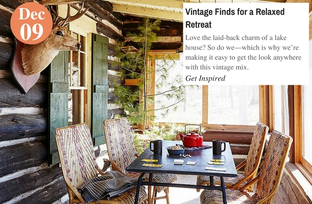 Vintage Finds for a Relaxed Retreat