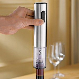 Wine Enthusiast Companies Electric Blue Push & Button Corkscrew