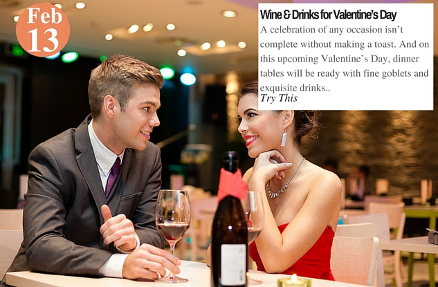 Wine and Drinks for Valentine's Day