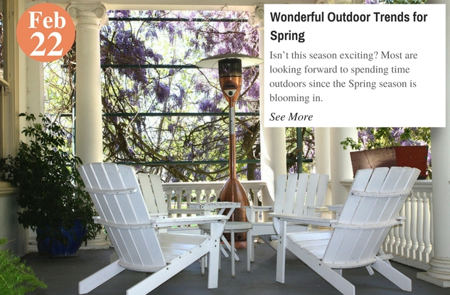 Wonderful Outdoor Trends for Spring